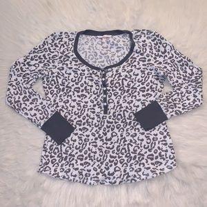 Victoria's Secret Cheetah Waffle Knit Long Sleeve